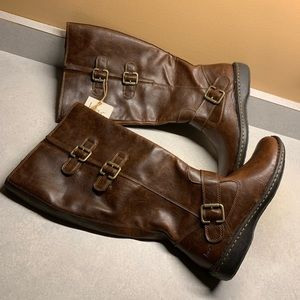 Born Concept brown leather 7.5M WC riding boots